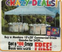 Get a $100 GC wyb 10'x20′ Gazebo at OSJL! (6/29-7/5)