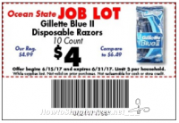 10ct. Gillette Razors for $1.00 at Job Lot this week!!!