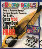Kayak Combo only $189 at Job Lot, after $150 GC!