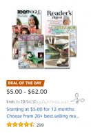Deal of the Day: Magazine Best Sellers, Starting at $5.00/Year!