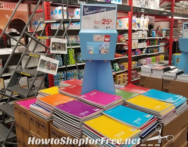 Notebooks only $.25 at Staples!