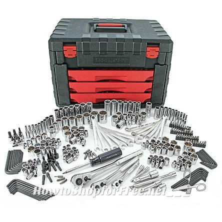 62% OFF Craftsman 270pc Tool Set with 3-Drawer Chest!