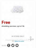 FREE Paper Shredding Services this week!