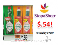 Tabasco Brand Tabaco only $.54 at Stop & Shop!