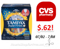 ~NEW Deal~ Tampax Tampons only $.62 at CVS!