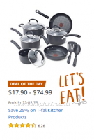 Save 25% on T-fal Kitchen Products ~Deal of the Day