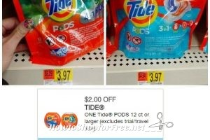 Tide PODS $1.97 at Walmart ~Print Now!
