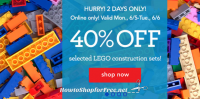 HURRY, 40% off LEGO Sets ~ Today & Tomorrow Only!