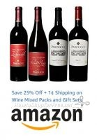 Save 25% Off + 1¢ Shipping on Wine Mixed Packs & Gift Sets