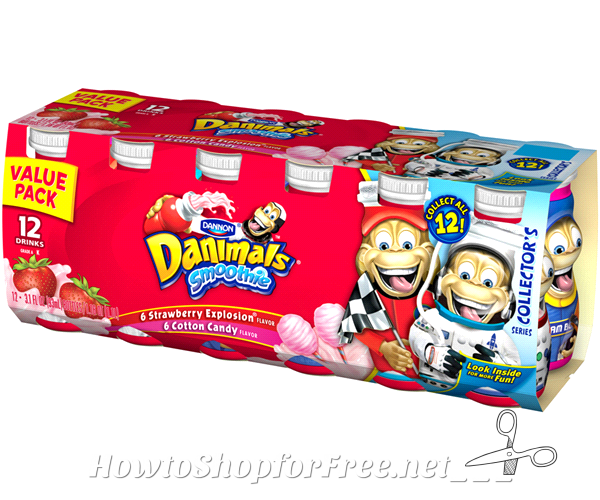 Dannon Danimals Smoothies, 31¢ per drink @ Walmart!!