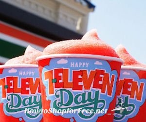 Today is Free Slurpee Day at 7-Eleven from 11am-7pm!!