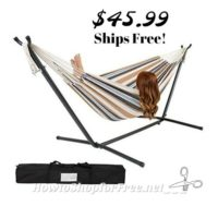 Double Hammock w/ Stand & Carrying Case ~ $45.99!!