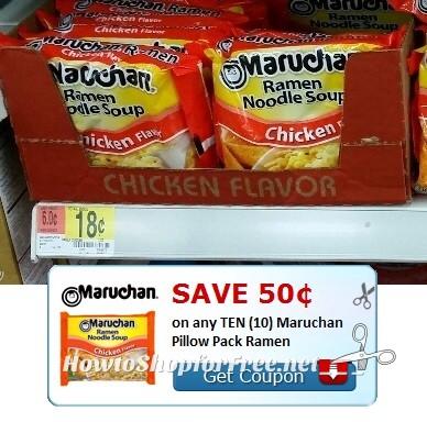 13¢ packs of Ramen at Walmart!!!