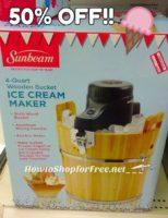 $25 Sunbeam® Ice Cream Maker!!