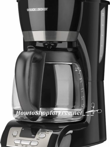 $15 Black & Decker 12-Cup Coffeemaker ~50% OFF today!!