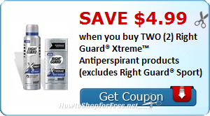 SAVE $4.99 wyb (2) Right Guard® Xtreme™ Antiperspirant products (excludes Right Guard® Sport)