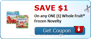 SAVE $1.00 On any ONE (1) Whole Fruit® Frozen Novelty