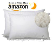 2pk. Down Pillows for Stomach Sleepers ~Deal of the Day