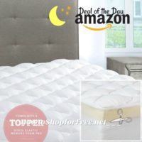 2x Thick Mattress Pad/Topper with Fitted Skirt ~Deal of the Day