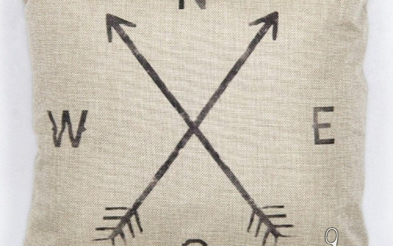 Decorative Compass Pillow Cover $1.72, Ships FREE!