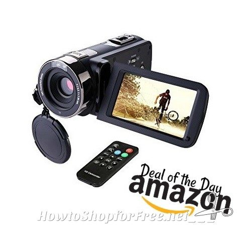 $89 Camcorder with Night Vision & Touch Screen! Ships Free!