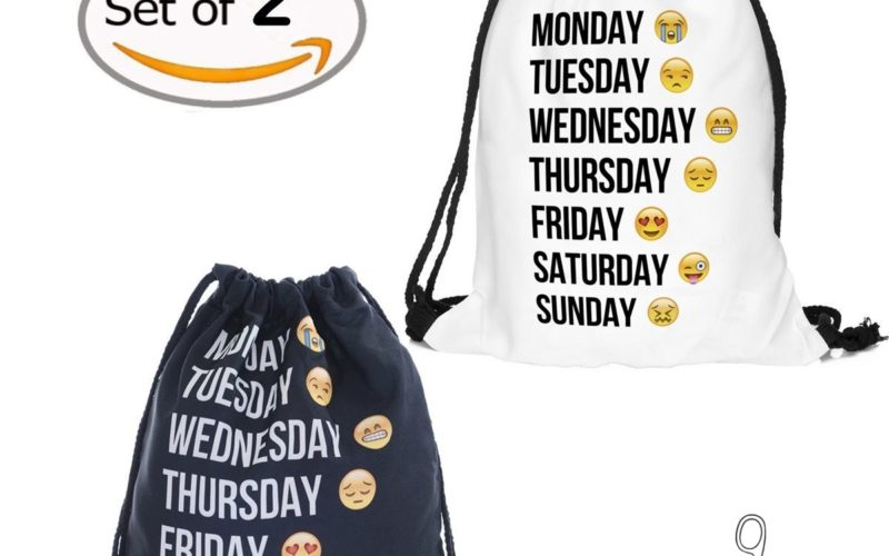 2pk. Emoji Drawstring Backpacks for $9.99!!