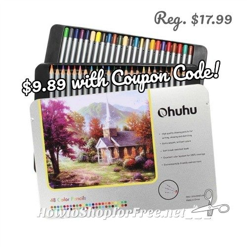 Ohuhu 72ct Colored Pencils in Tin, $9.89 with Coupon Code!