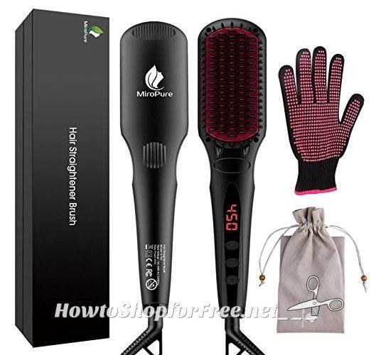 69% OFF Ionic Hair Straightener Brush, on Lightning Deal!