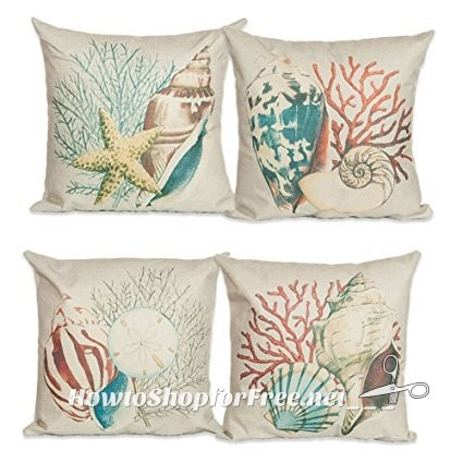 "4x ""Ocean"" Themed Pillow Covers, $9.98 SHIPPED!"