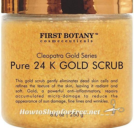 81% OFF 24K Gold Scrub for Face & Body ~Lightning Deal