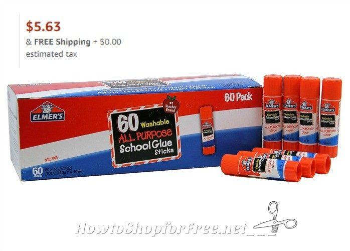 RUN, 60ct. Elmer's Glue Sticks for $5.63!!!! (.09 per stick)