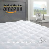 $75 Pressure Relief Mattress Pad with Fitted Skirt, Today Only! Ships Free!