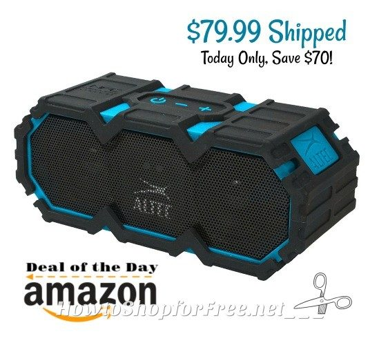$70 OFF Altec Lansing Portable Bluetooth Speakers, Today Only!
