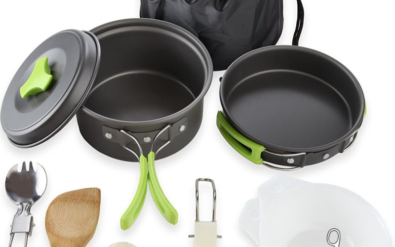 10pc. Camping Cookware 77% OFF for Prime Day!