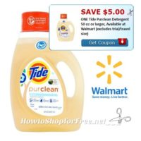$3.59 Tide PurClean 50oz. at Walmart!!