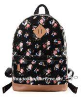 **Amazon Lightning Deal** Douguyan Casual Lightweight Print Backpack – 65% off ~ ONLY $13.99!!
