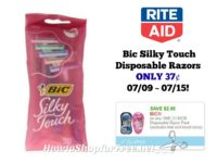 Bic Silky Touch Disposable Razors ONLY 37¢ at Rite Aid 07/09 ~ 07/15!