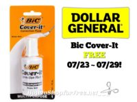 Bic Cover-It FREE at Dollar General 07/23 ~ 07/29!!