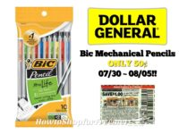 Bic Mechanical Pencils ONLY 50¢ at Dollar General 07/30 ~ 08/05!!