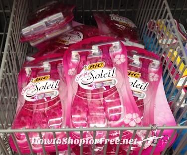 Pay POCKET CHANGE for BiC Soleil Razors at Walmart