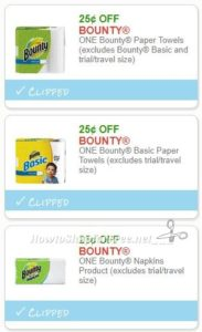 New Printable Coupons 3 Bounty Coupons Pre Clipped For You