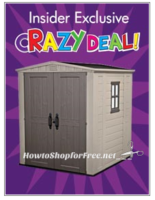 Keter Shed ONLY $299 for OSJL Insiders, through 7/19