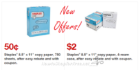 NEW Staples® Copy Paper Deals as low as 50¢