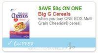 **NEW Printable Coupon** .50/1 Multi Grain Cheerios