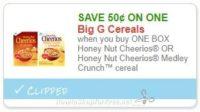 Save $0.50/1 Honey Nut Cheerios OR Honey Nut Cheerios Medley Crunch™ cereal
