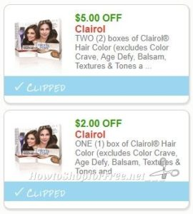 Clairol hair coupons