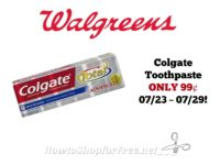 Colgate Toothpaste ONLY 99¢ at Walgreen's 07/23 ~ 07/29!