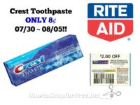 Crest Toothpaste ONLY 8¢ at Rite Aid 07/30 ~ 08/05!!