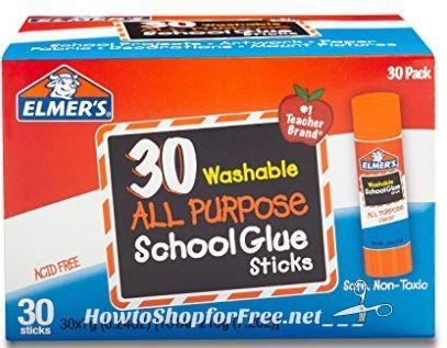 **Amazon BTS Best Seller**Elmer's All Purpose School Glue Sticks (30ct) ~ ONLY 26¢ per Stick!!