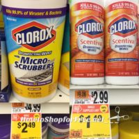 Clorox disinfecting Wipes as low as $.49!